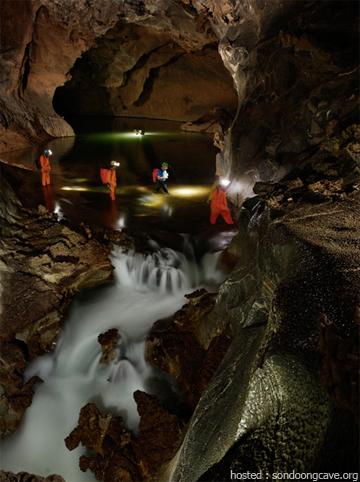 A stream in cave